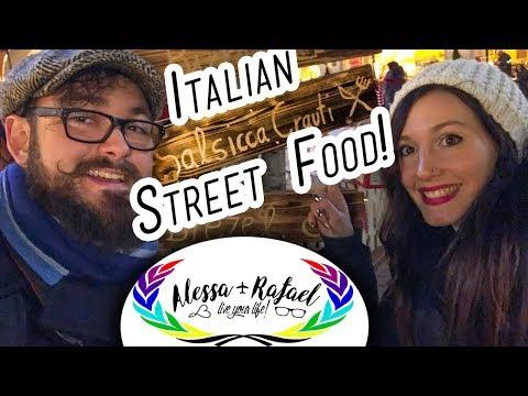 Italian Street Food: Northern Sausages (in Bolzano, Italy) - Alessa and Rafael #002