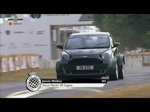 aston Martin V8 Cygnet en Goodwood