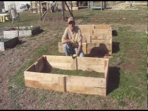 Building Raised Beds From Re-claimed Pallet Wood