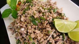 Thai Larb Spicy Chicken Salad (Laab Gai) Recipe