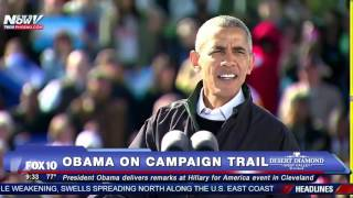 Cleveland (OH) United States  city images : FNN: Obama Campaigns for Hillary Clinton in Cleveland (and Gives Lebron James a Shout Out) - FULL