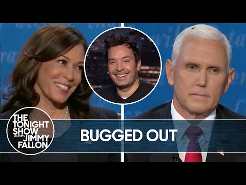 Mike Pence Interrupted by Fly During VP Debate   The Tonight Show