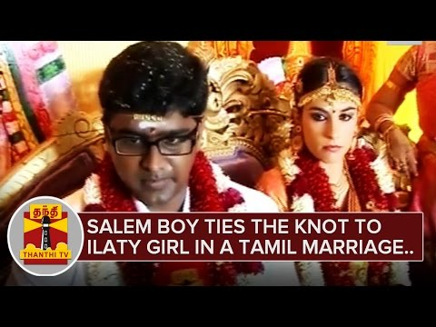 Salem-Boy-ties-the-knot-to-Italy-Girl-in-a-Tamil-Traditional-Marriage-ThanthI-TV-06-03-2016