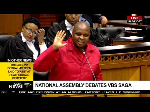 Floyd Shivambu Hits Back At Mps During The #vbs Debate In Parliament