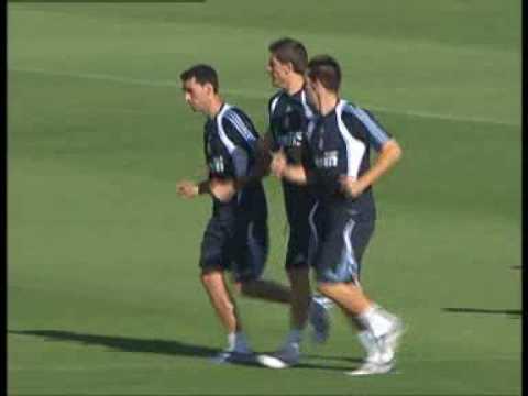 El Primer Entrenamiento de Arbeloa con el Madrid