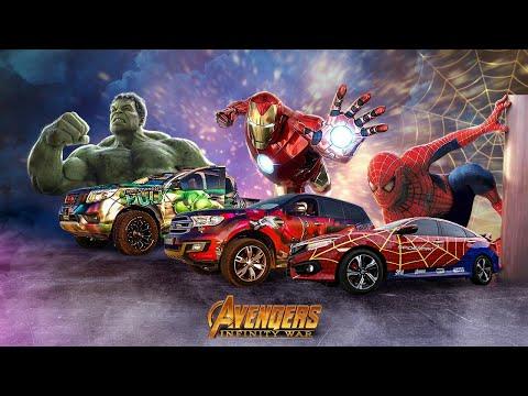 Dán Decal Xe Theo Phong Cách Siêu Anh Hùng Avengers