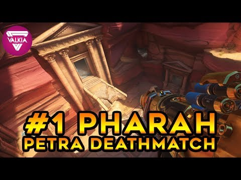 #1 Pharah || NEW PETRA OVERWATCH MAP GAMEPLAY || Valkia (видео)
