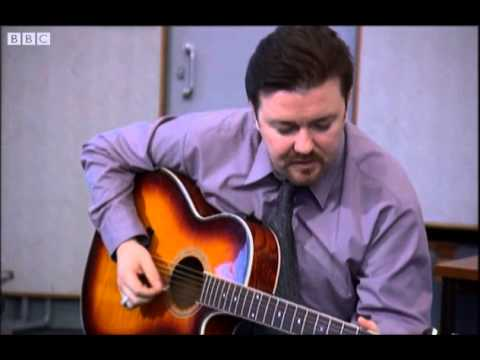 David Brent on Guitar – Free Love Freeway – The Office – BBC