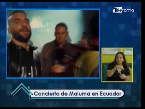 Concierto de Maluma en Ecuador