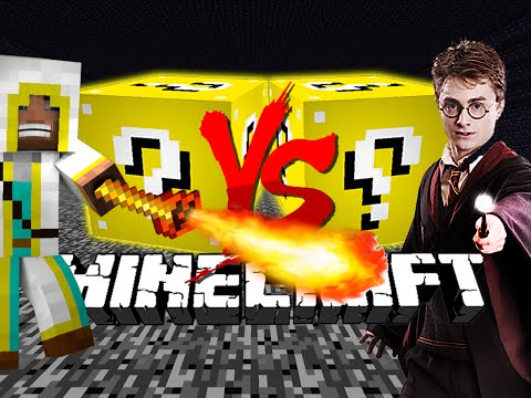 Minecraft: HARRY POTTER LUCKY BLOCK CHALLENGE | Magic Wand Battles!