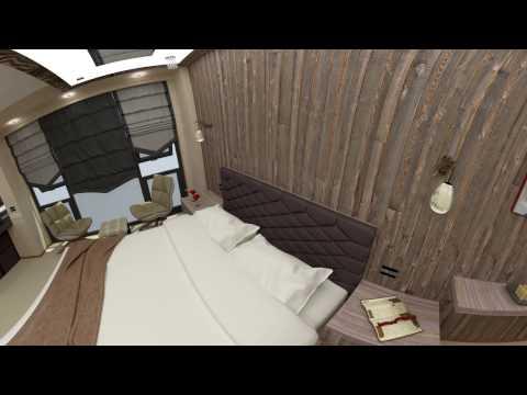 VR360 Hotel Room Interior Design