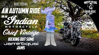10. An Autumn Ride on an Indian Chief Vintage kicking out some Jamiroquai Jams | Pure Riding