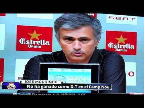 Mourinho mete Dedo en ojo de Tito Vilanova - Barcelona vs Real Madrid (видео)