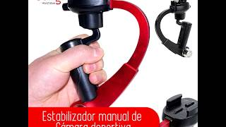 Estabilizador manual para cámara deportiva