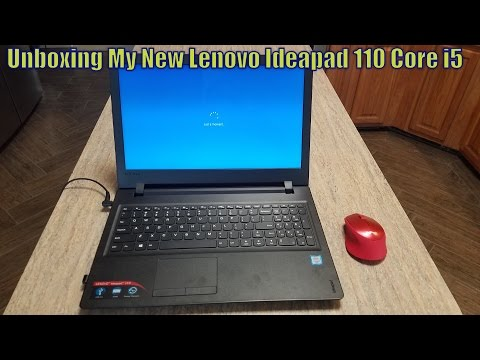 Unboxing My New Lenovo Ideapad 110 Core i5