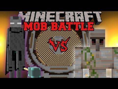 Iron Golem Vs. Ender Lord - Minecraft Mob Battles - Legandary Beasts Mod