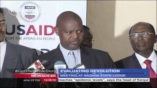 EVALUATING DEVOLUTION: President Uhuru meets governors  in Nyeri
