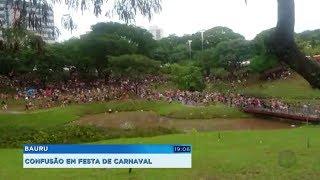 Pré-carnaval em Bauru tem confusão e confronto com a PM no Vitória Régia