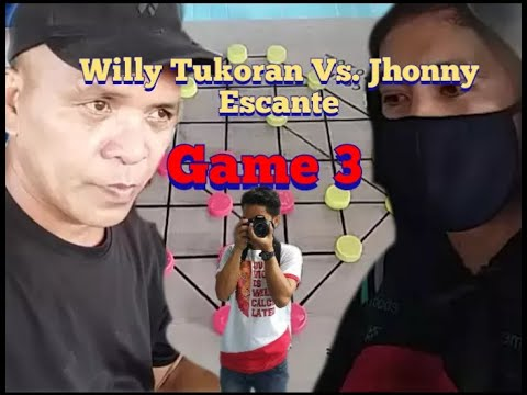Dama Grandmaster Willy Tukoran Vs. Region 8 Champion Jhonny Escante Game 3 -Race to 3