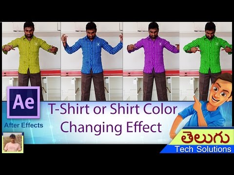 After Effects Tutorial | How To Change The Color Of Shirt / T-Shirt |  Color Changing Effect
