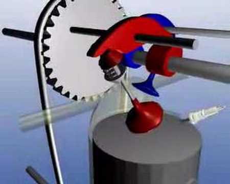 OHC - オーバーヘッドカム(OHC)式のエンジン。より早い回転数に対応するためカムを上に持ってきました。