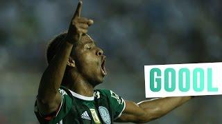 Keno marcou o gol da estreia do Palmeiras na Conmebol Bridgestone Libertadores. ------------------- Assine o Premiere e assista a todos os jogos do Palmeiras...
