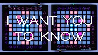 Support me on Patreon: https://www.patreon.com/SoNevable?ty=hThanks for watching my very first Launchpad Pro cover of Zedd's single I Want You To Know :D This video couldn't have happened without Novation, so go give them a HUGE hug ;DComment if you want to see an explanation of this project file, it's the most complex I've made by far O_OP.S. The video is glitchy as heck, but I'll have to wait til after the contest to update it D: But hey, rainbow LEDs amirite?Let me know if you want a video of just the light show from this song.