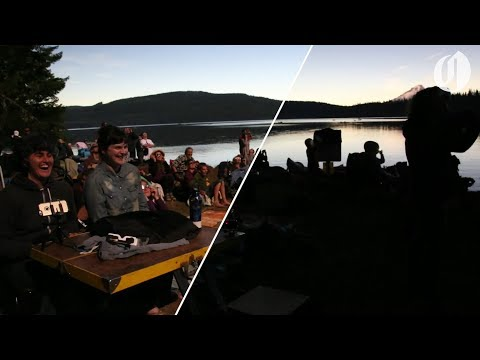 Solar eclipse path of totality over Timothy Lake in Oregon (видео)