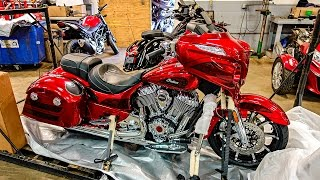 7. New Indian Chieftain Elite!! - Mail Call from Australia! | TheSmoaks Vlog_507
