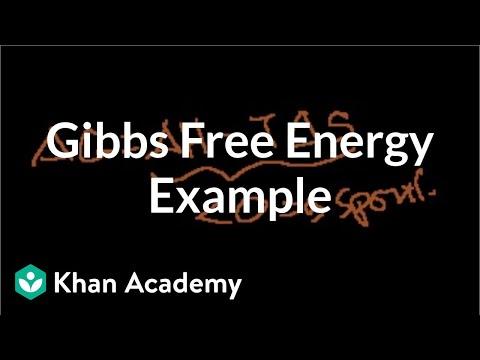 Gibbs Free Energy Example Video Khan Academy