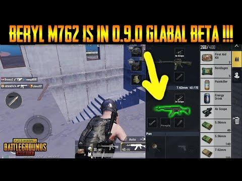 BERYL M762 IN PUBG MOBILE 0.9.0 GLOBAL BETA - NEW ASSUALT RIFLE !!!