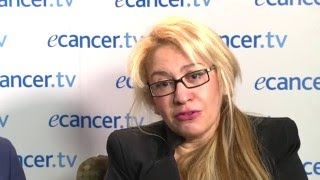 Dr Eleni Efstathiou (MD Anderson Cancer Center, Houston, USA) chairs a discussion with Dr Axel Merseburger (University ...