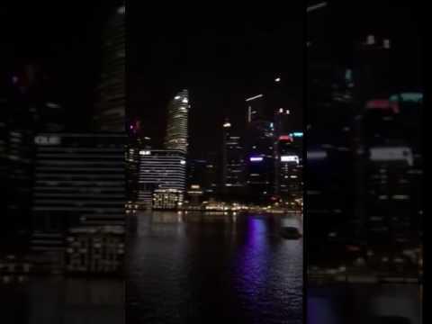 Marina bay sand Singapore 2016 (видео)