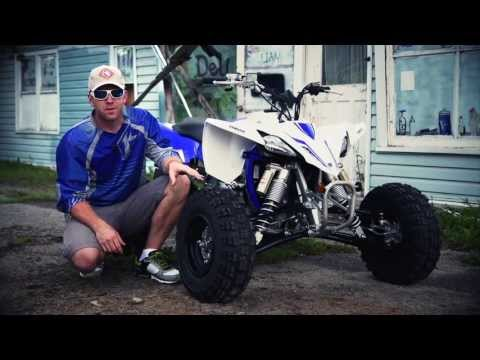 yamaha - http://www.dirttraxtv.com DirtTrax Television Co-Host AJ Lester hits the track aboard Yamaha's newly designed 2014 YFZ450R.