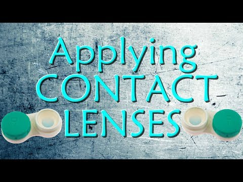 How To Properly Apply Contact Lenses