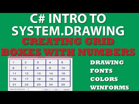 C# Grid Boxes – Using System.Drawing, Nested Loops, WinForms (detailed explanation)
