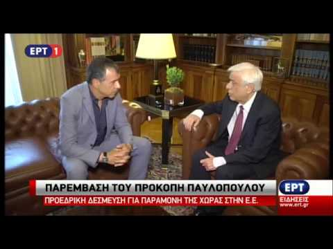 Συνάντηση του Προέδρου της Δημοκρατίας με τον Στ. Θεοδωράκη
