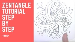 If you are looking for a Zentangle tutorial on the pattern Trio, then this is the place for you. The Trio Zentangle pattern looks complex, but it is a very e...