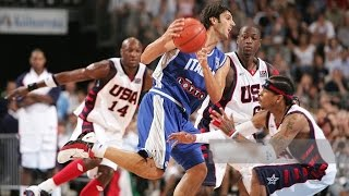 Allen Iverson, Tim Duncan along with a young LeBron James, Carmelo Anthony, Dwyane Wade and the United States play Italy in this 2004 Olympics preparation match. Full game in Italian.👍 and subscribe for more international basketball videos ► http://bit.ly/SubWorldBasketball