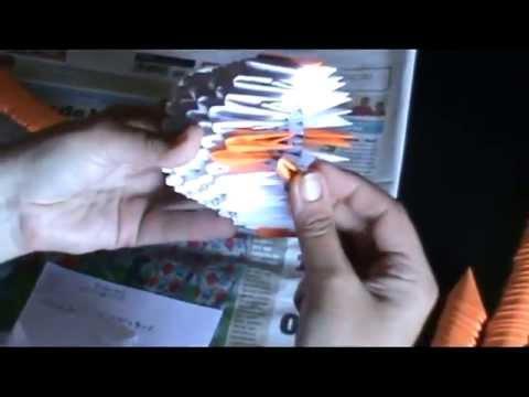 tutorial jarrón origami 3d completo julio 2013 x264