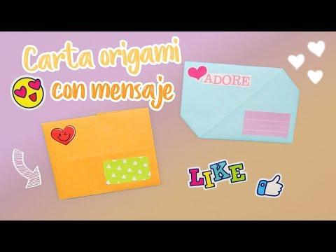 Tarjetas de amor - Carta origami con mensaje para tu novio !