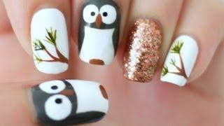 Owl Nails - YouTube