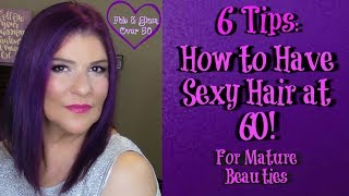 Sharing my 6 Tips: How to Have Sexy Hair at 60  #sexyhair  #maturebeautiesHi, Everyone!For a video last year, I spoke about how I keep my hair shiny, silky, bouncy, & purple. Today's video is an update where I offer 6 tips on how to have sexy hair at 60. These are simple tips that I follow in order to maintain sexy hair at 60. I hope you find these tips helpful, so that you, too, can have sexy hair at 60!If you have any tips for sexy hair at 60, I'd love for you to share them with me and the other viewers.xoxo💋MarleneMy Previous Hair Videos:💜SHINY, BOUNCY, FRIZZ-FREE HAIR?? PURE BLENDS SHAMPOO & CONDITIONER  REVIEW FOR MATURE BEAUTIEShttp://bit.ly/2sMzNIJ💜APRIL 2017 FLIPS and FLOPS (Faves & Hates)http://bit.ly/2qtyug2💜Shiny, Silky, & Bouncy Hair for Mature Beauties! Redken & Goldwell Nectaya: http://bit.ly/2t55i0e💜Everything about my Frizz-Free Purple Hair  Over 50http://bit.ly/2diy8Cr💞Visit the fabulous ladies on YouTube:http://ohcarolshow.blogspot.com/▶💄For New Creators:Sub4Sub: Is Sub For Sub Good or Bad?http://bit.ly/2paWckN💜If you love art, stop by my brother's (William Braemer) art gallery in Miami! This video includes a bit of footage from our beautiful Miami!Art Fusion Galleries: ( Luminescent Infusion Opening Night Event, April 26) http://bit.ly/2qeumBu📧Business Inquiries: fabglam50@gmail.com📧📧📧📧📧📧📧📧📧📧📧📧📧📧📧📧📧📧📧📧📧📧📧📧Send Me A Postcard Fab and Glam Over 50125 E Merritt Island CausewaySte 107   #270Merritt Island, Fl 32952DiscountCodes:💜SqHair Bands: MARLENE OR MARLENE6 (both codes will work and good until September 30, 2017; $3.99 off a $20 or more order) https://sqhairbands.com/💜American Culture Pure Blends Shampoo & Conditioner (Use my code MARTHOM25 to save 25%)http://bit.ly/2oW5NXZ💜💜FTC: I receive a few pennies when you click on the magiclinks below. There will NO additional charges to your purchase(s).💜On My Face:💜FARSÁLI Unicorn Essencehttp://go.magik.ly/ml/50g1/💜Too Faced Born This Way Absolute Perfection Foundation in Honey: http://go.magik.ly/ml/3c5z