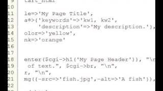 Perl Tutorial 53 - CGI.pm - Meta, Body, Image, Link&Format