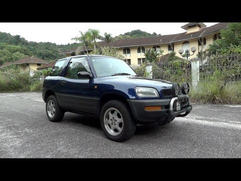1996 Toyota RAV4 L 3-door (Hardtop) Start-Up, Full Vehicle Tour, And Quick Drive