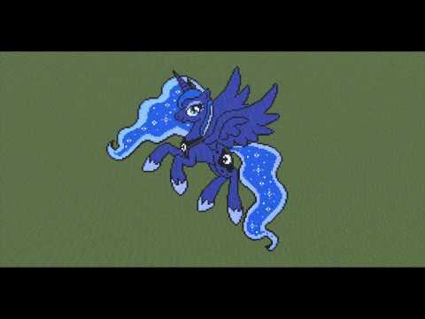 Luna and celestia minecraft pixel art minecraft my little pony