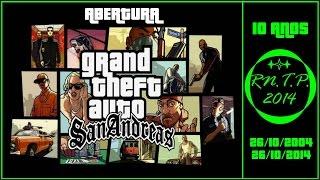 Hoje, dia 26/10/2014, o GTA San Andreas completa 10 Anos do seu Lançamento, e por causa disso, resolvi postar a Abertura desse Jogo, que marcou a Vida de Muita Gente, Inclusive a Minha.