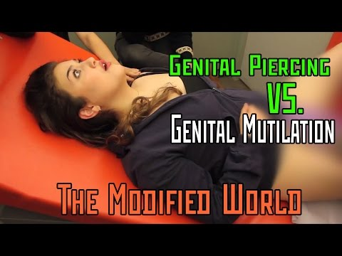 Female Genital Piercing VERSUS Female Genital Mutilation (circumcision)- THE MODIFIED WORLD (видео)