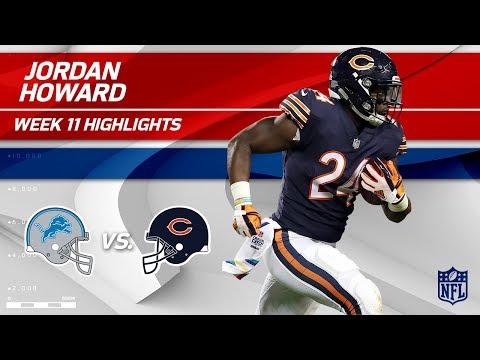 Video: Jordan Howard's Big Game w/ 125 Yards & 1 TD vs. Detroit! | Lions vs. Bears | Wk 11 Player HLs