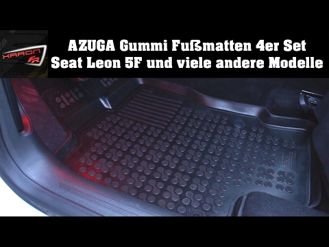 Auto Fußmatten AZUGA Gummi 4er Set - Seat Leon 5F VW, Skoda, BMW, Audi u.v.m.